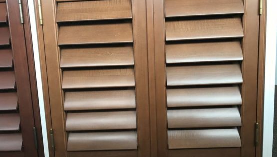 Indoor Blinds and Shutters_Stained_Plantation_ShuttersStained Plantation Shutters_4